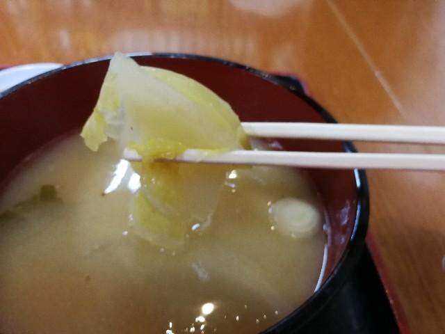 タカマル鮮魚店のお味噌汁