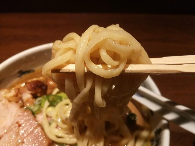 麺屋武蔵 芝浦店 武蔵ラーメンの麺