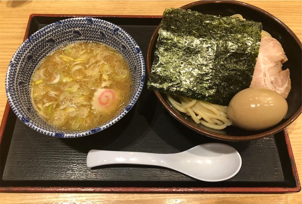 舎鈴 田町駅前店の味玉つけ麺
