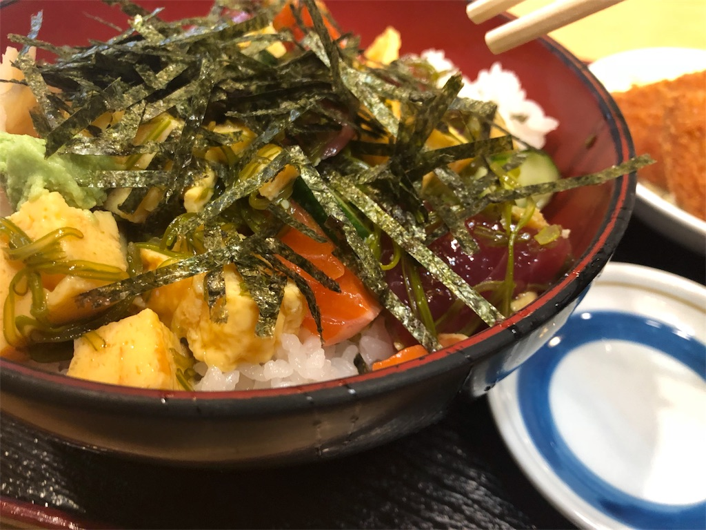 「湯浅」の山海丼