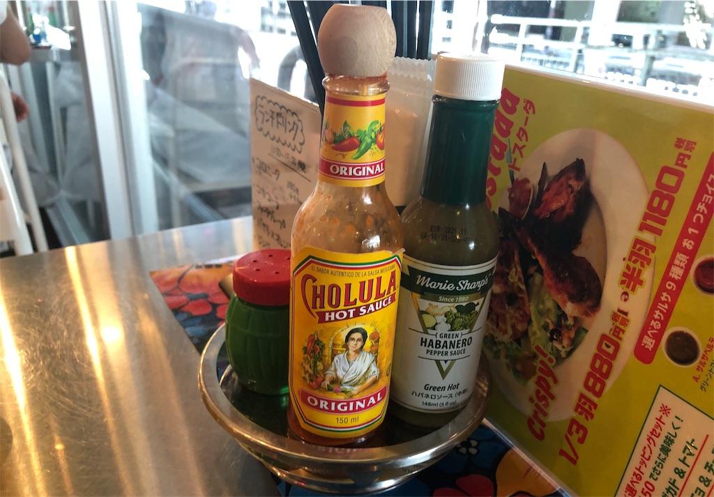 墨国回転鶏酒場 ホットソースとハバネロソース