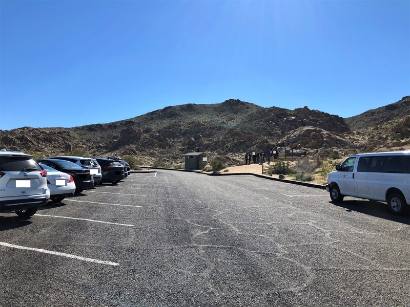 カリフォルニア ジョシュア・ツリー フォーティーナイン・パームズ ビッグホーン トレッキング 駐車場