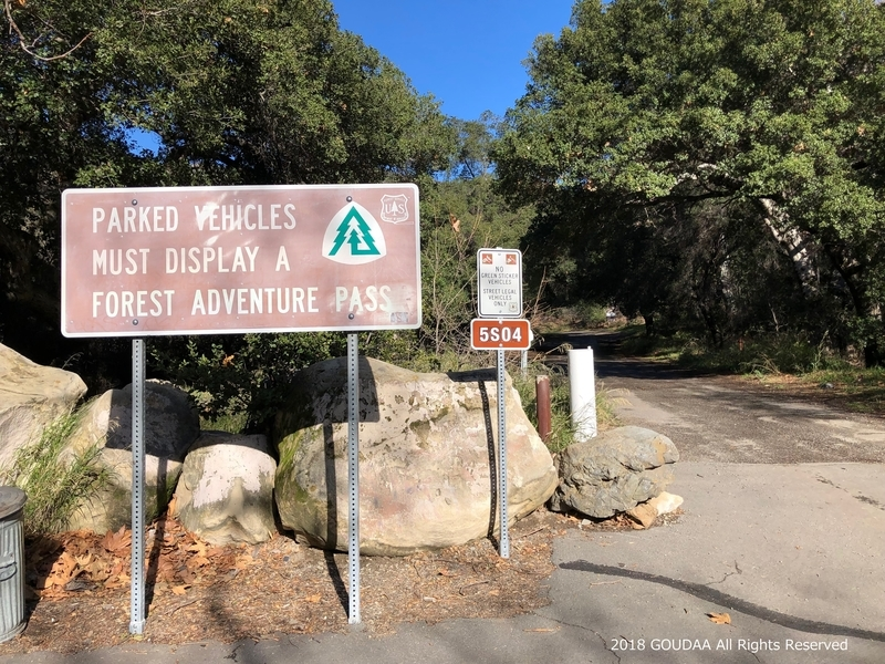 カリフォルニア トレイル マウンテンバイク ルール 看板 林道