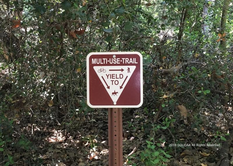カリフォルニア トレイル マウンテンバイク ルール 看板 公園