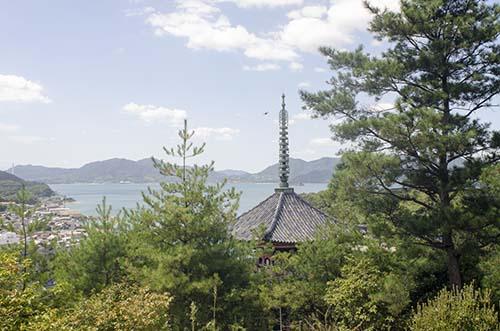 山道からの向上寺三重塔
