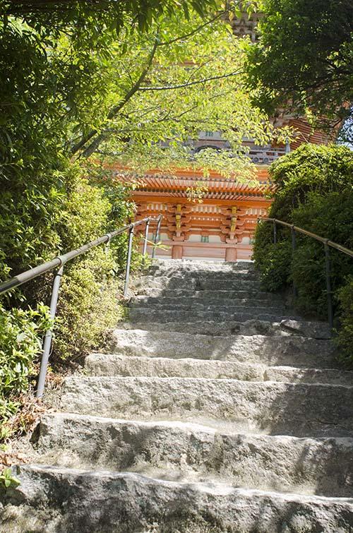 向上寺石段と三重塔