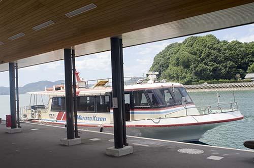 瀬戸田港から三原港への船