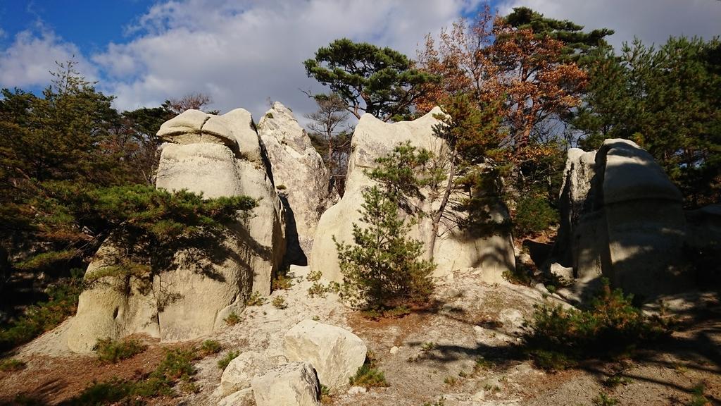 浄土松公園 きのこ岩