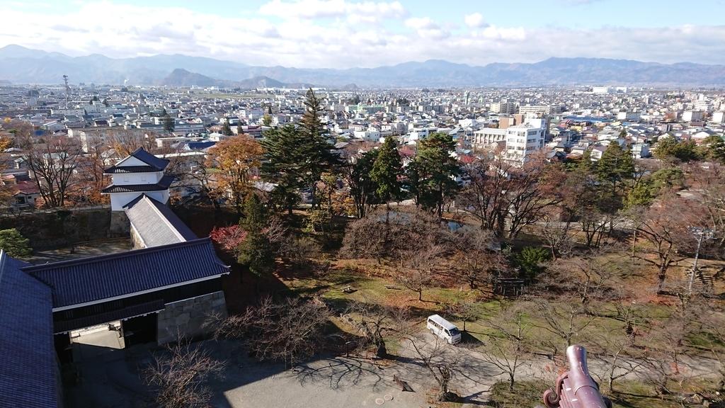 鶴ヶ城 天守閣 景色