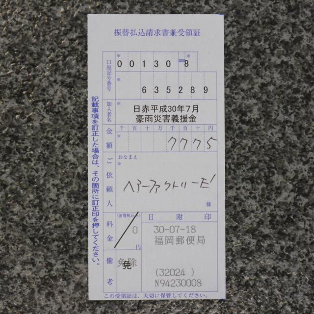 7775円集まりました。