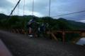 例の橋で記念撮影(綾部市:山家地区)