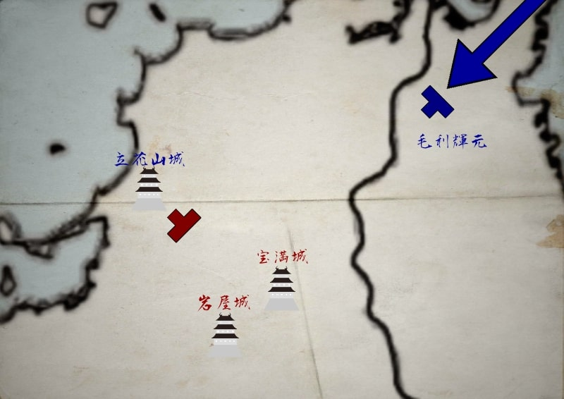 九州に上陸する豊臣軍の一部
