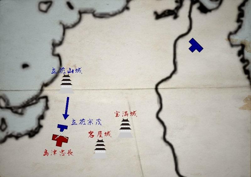 島津軍を追撃する立花宗茂