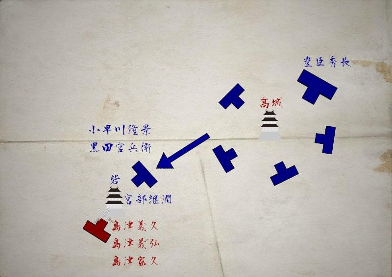 さらに加勢する小早川隆景と黒田官兵衛