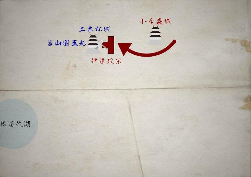 二本松城に攻め寄せる伊達政宗