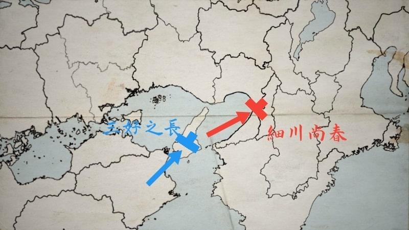 堺に撤退する細川尚春