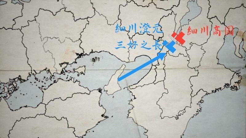 細川高国に勝利する細川澄元と三好之長