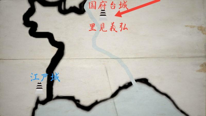 国府台城に入城する里見義弘