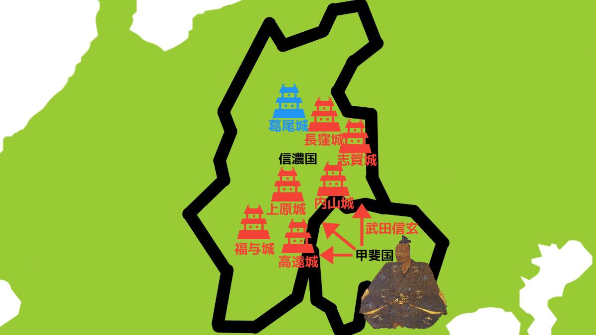 信濃国半国を占領する武田信玄