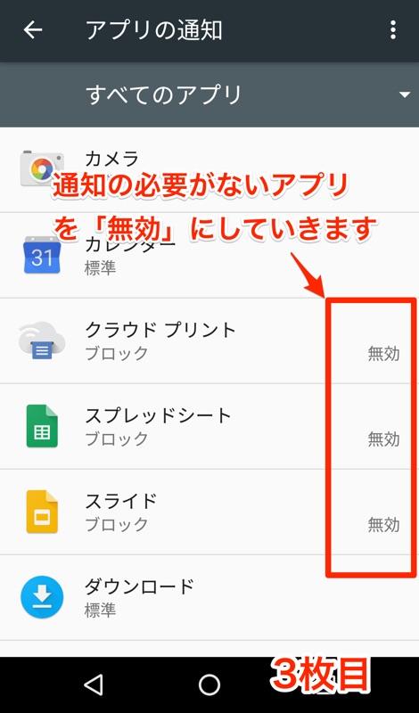 Android 6.0 Marshmallow アンドロイド マシュマロ 省エネ化 設定 通知