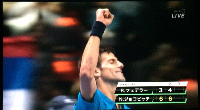 ATP ワールド ツアー ファイナル 決勝戦 ジョコビッチ