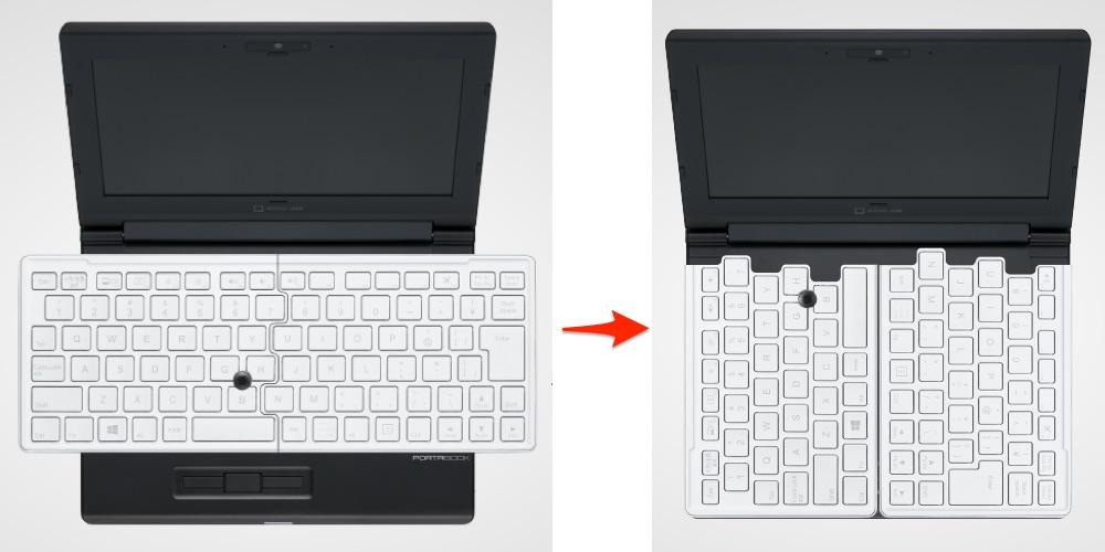 キングジム ポータブック ノートパソコン 可動式 キーボード