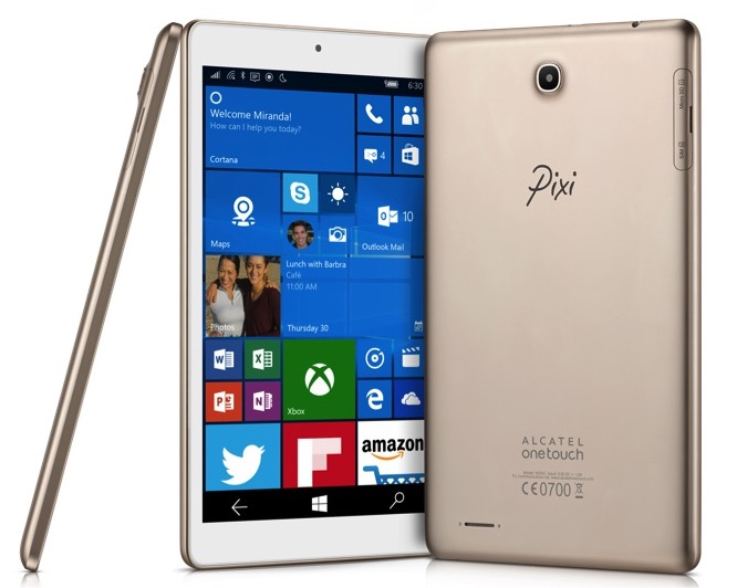 TCL Alcatel OneTouch Pixi 3 タブレット Windows 10 Mobile ウィンドウズ モバイル スペック 性能