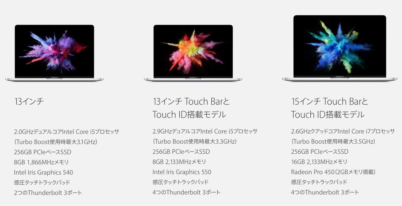 MacBook Pro Late 2016 Apple イベント 10月