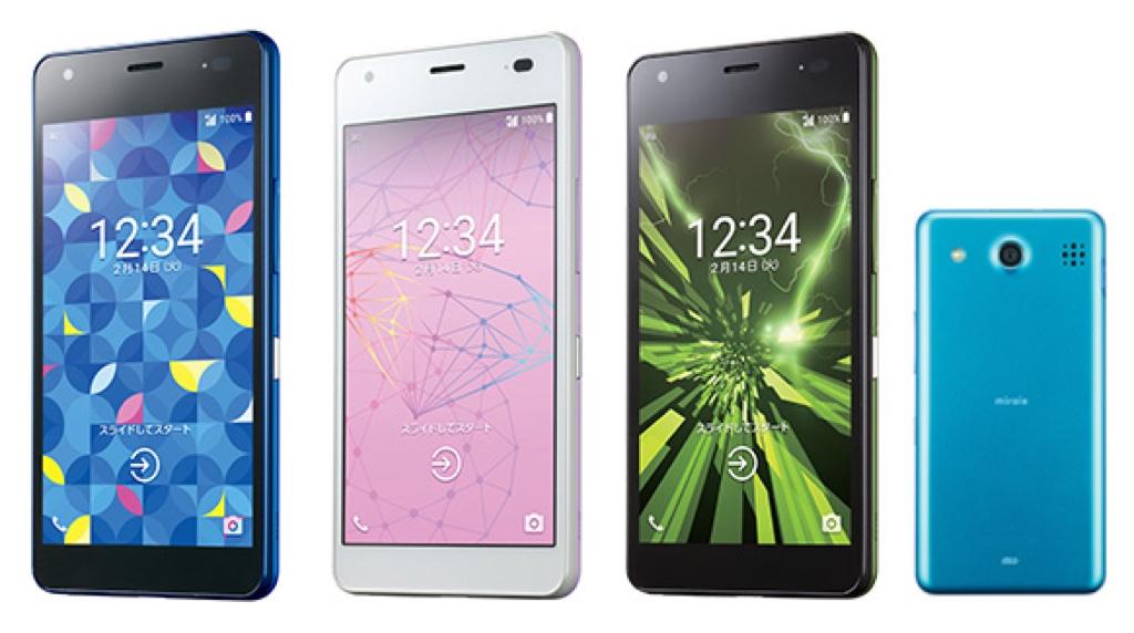 miraie f ミライエ フォルテ Android アンドロイド スマートフォン スマホ スペック 性能 2017年 春モデル KDDI au