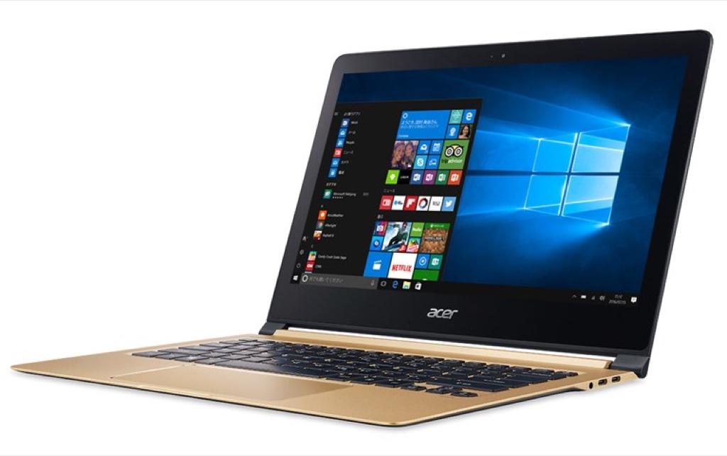 Acer Swift 7 Windows ウィンドウズ ノートパソコン ノートPC スペック 性能 2017年 エイサー