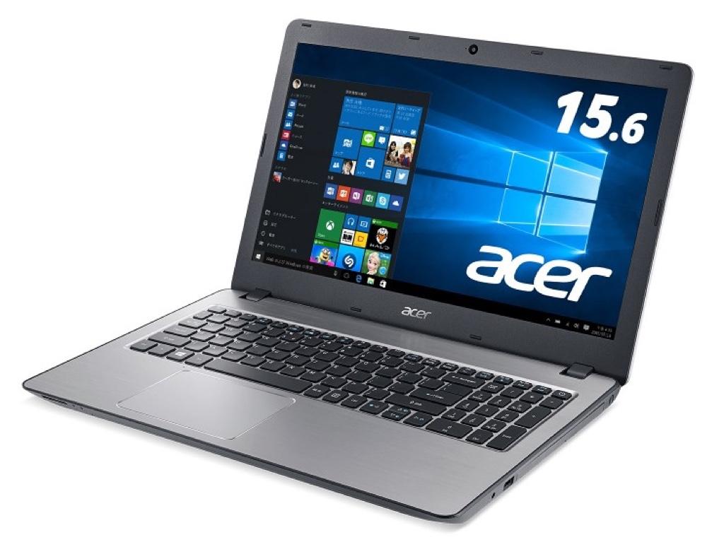Acer Aspire F 15 Windows ウィンドウズ ノートパソコン ノートPC スペック 性能 2017年 エイサー