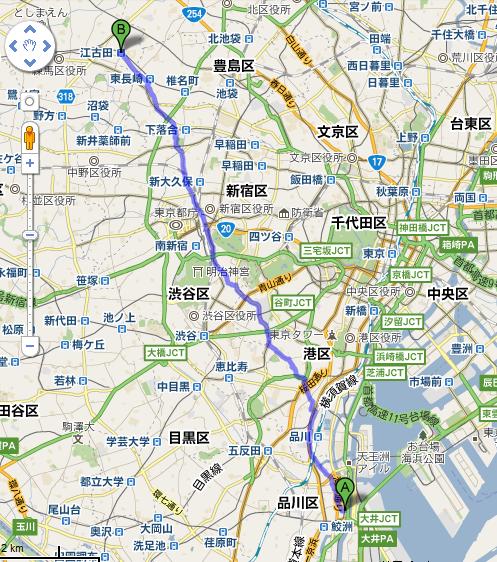 品川シーサイド → 江古田
