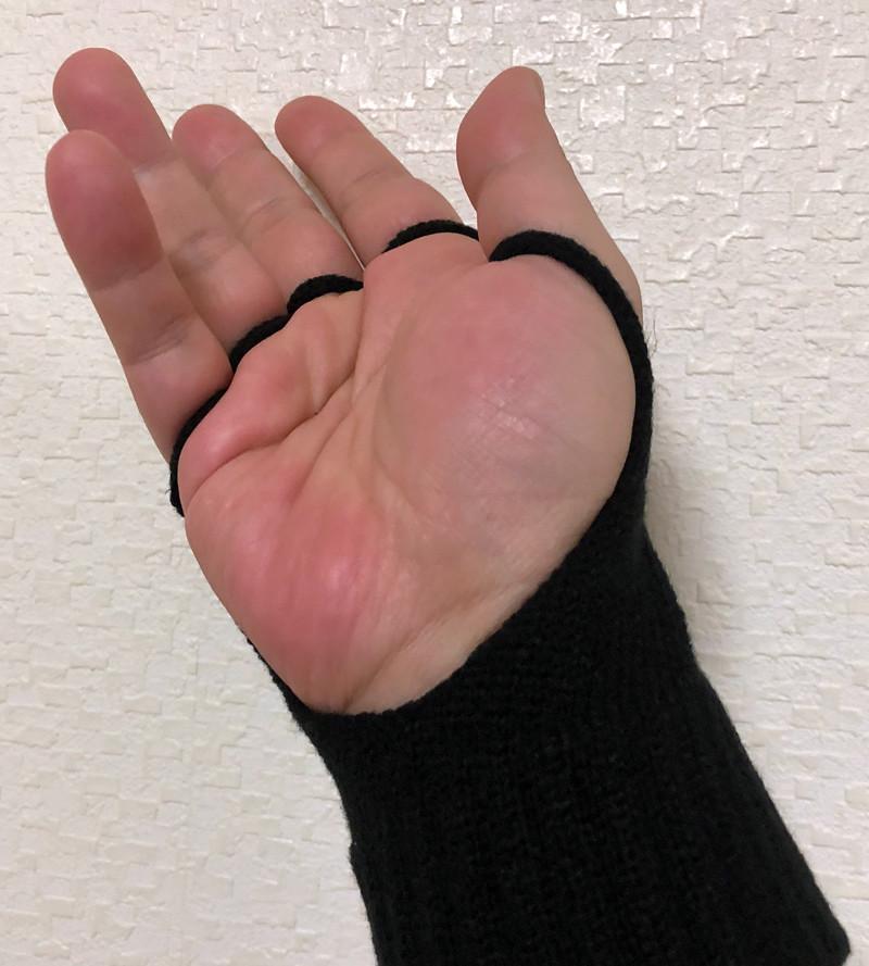 ゲーミング手袋(手の平)
