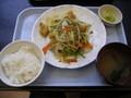 [旅][ごはん]空港食堂の「ふーチャンプルー定食」