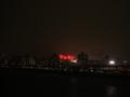 [自転車][花火]荒川から見る江戸川花火大会の花火