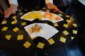 [うおがし銘茶]茶・銀座 六周年記念祭 2階で塩野の干菓子