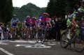 [自転車][イベント]JAPAN CUP 2008 8周目 集団の先頭でリクイガスとランプレが積極的に動く
