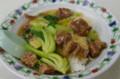[ごはん]中園亭の牛バラ肉あんかけ丼