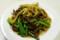 上海小吃の蒜苗牛肉絲