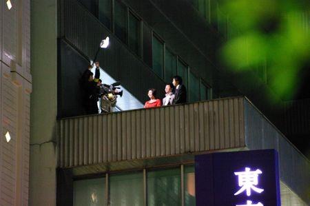 東京宝塚劇場隣のビルにはMXの番組で中井美穂