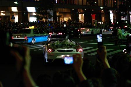 Ferrari F430 Spiderに乗って去っていくとうこさん