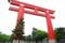 平安神宮の赤い鳥居