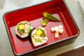 [うおがし銘茶]楽茶会 おしのぎで鰤門の巻き寿司