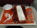 [飛行機][ごはん]機内食のカレー
