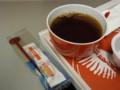 [飛行機][ごはん]砂糖がたっぷりの紅茶