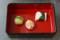 茶・銀座 春茶会 桜鯛と車海老の手鞠寿司 桜豆腐