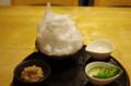 [カフェ]しもきた茶苑大山でホワイトデーかき氷の代替 無糖抹茶 2杯目