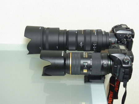 BigmaとDA★60-250mmの比較