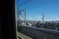 [のりもの]東京行きの新幹線で富士山を右側に見る