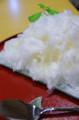 [カフェ][かき氷]しもきた茶苑大山 りんごのかき氷